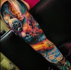 Tattoo space sleeve
