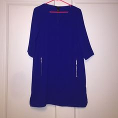 Blue H&M dress Beautiful vibrant blue H&M dress Size 12 worn once H&M Dresses Midi