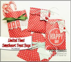www.PattyStamps.com - sweetheart treat bags from Stampin' Up! can be used year round!
