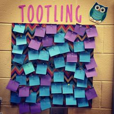 Rather than tattling, create a tootling board where students can pin positive notes about their peers or teachers. Great way to create class community!
