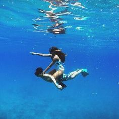 Under water | Couple Goal | Togetherness | Awesome | Fun | Adventure | Blue sea