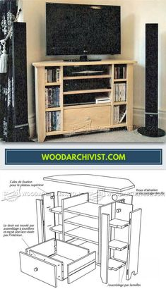 Corner TV Stand Plans - Furniture Plans and Projects | WoodArchivist.com