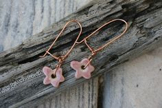 A personal favorite from my Etsy shop https://www.etsy.com/listing/231112852/pink-porcelain-flower-earrings