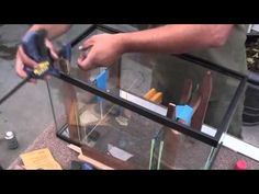 In this video I will show how to cut glass seem caulk glass and put in the dividers o a 10 gallon glass aquarium Aquarium Sump, Saltwater Aquarium Fish, Aquarium Stand, Glass Aquarium, Home Aquarium, Saltwater Tank, Marine Aquarium, Reef Aquarium, Freshwater Aquarium