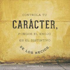 """""""Si ya enojarse es malo, guardar rencor es peor."""" Eclesiastés 7:9 """