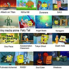 ill never not love spongebob comparison memes -arina - edit: how do u guys not know what RWBY is im