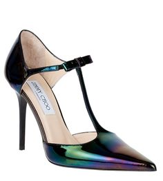 jimmy choo__perfect compliment to a iridescent dress i just pinned ( or maybe too matchy matchy?)__these are cute anyway.