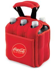 Coca Cola Six Pack Insulated Cooler Beverage Tote Picnic Time Red