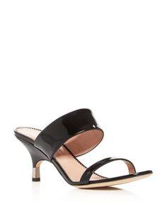 Women S Kitten Heel Slide Sandals Kitten Heels Heels Slide Sandals