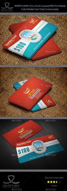Travel Gift Voucher Card Template Vol.17