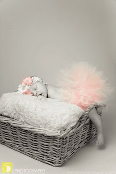PINK and WHITE newborn baby tutu setGreat for by alliballiboutique, $23.00