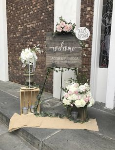 Wedding Welcome Sign DECAL, Rustic Wedding Welcome Sign, DECAL ONLY, Wedding Welcome Sign, Do it yourself Wedding Welcome Sign, Rustic Weddi by PinkPosiesandPearls on Etsy https://www.etsy.com/listing/509714298/wedding-welcome-sign-decal-rustic