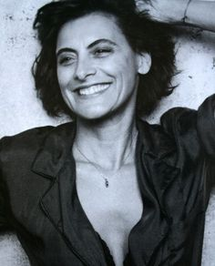 "this is a natural face of a beautiful woman who is not afraid of aging!!  She lost her place as the muse of Karl Lagerfeld when she accepted being the face of France!   Ines de la Fressange forged ahead with her natural face!  She was ""Marianne"";  the symbol of France!"