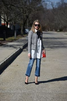 Try A Cropped Flare Jean