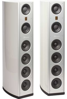 With bookshelves, loudspeakers, center channels and subwoofers we can satisfy your HiFi need for you home audio or your home theater. Audiophile Speakers, Hifi Audio, Stereo Speakers, Wireless Speakers, Tower Speakers, Floor Speakers, High End Speakers, High End Audio, Audio Design