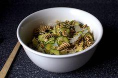 zucchini almond pasta salad