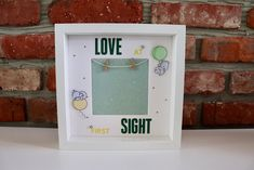 LOVE at first SIGHT Frame / Baby Frame / Birth Gift / New Baby Gift / Baby Scan Frame / Baby Scan / New Born Gift Baby Scan Frame, Birth Gift, Love At First Sight, New Baby Gifts, New Baby Products, Frames, Handmade Gifts, Etsy, Kid Craft Gifts