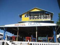 hotel olas in bocas del toro, panama. I stayed here once - had the best french toast I've ever had in my life.