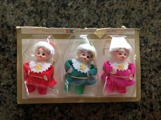 Vintage Christmas Decor Set of 3 Christmas Ornaments NOS