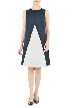 I <3 this Chevron colorblock shift dress from eShakti