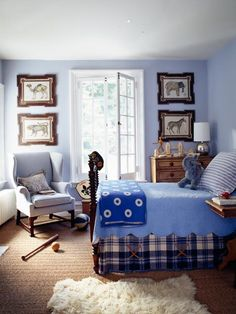 Decorating Boys Rooms: Blue Notes