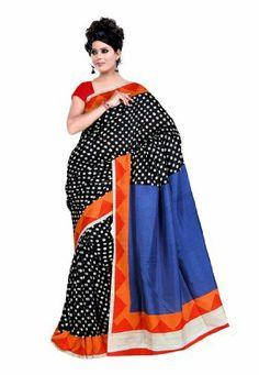 Fabdeal Indian Designer Raw Silk Black Printed Saree Fabdeal, http://www.amazon.de/dp/B00INWQRB8/ref=cm_sw_r_pi_dp_fE8otb0K59NF5