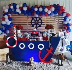 mickey mouse birthday party ideas Denizci Doum Gn Konsepti rnler, Pati Setleri ve Organizasyon Paketleri - Sailor Birthday, Sailor Party, Sailor Theme, Baby Boy Birthday, Boy Birthday Parties, Sailor Baby Showers, Anchor Baby Showers, Boy Baby Shower Themes, Boy Shower