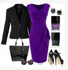 Pretty purple dress women's outfit