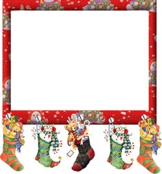 Image du Blog hadrianus.centerblog.net - cute Christmas frame with hanging stockings