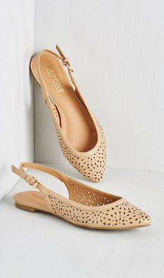 Slingback to Back Flat in Taupe