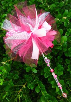 Tulle Fairy Wand just for inspiration...love the addition of ribbon and thinner tulle.