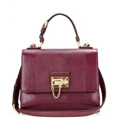 Dolce & Gabbana - Monica embossed leather shoulder bag - A ladylike classic with vintage appeal: Dolce & Gabbana's 'Monica' tote is the luxe marriage