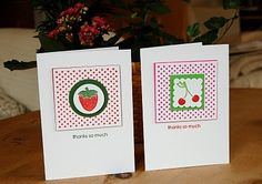 """Dot Dot Dot used to give """"retro"""" look. Ruby Red & Garden Green"""