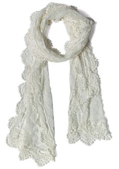 Retro Lace Crochet Scarf @Karlee Friese Sue Cathcart