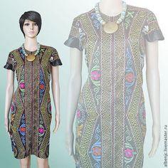 """Купить платье """"Шахрисабз"""" - тёмно-серый, орнамент, восток, восточный стиль, платье с вышивкой"""