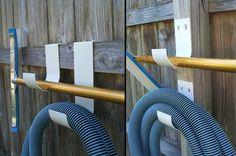 Swimming Pool Accessory Hooks #MadeinUSA Get your pool area neat organized poolhooks.com via BuyDirectUSA.com