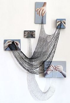 Cats Toys Ideas - Oh my this is cool. I wish I had gotten my moms hands. But I could start now. - Ideal toys for small cats Tricot D'art, Arte Linear, Instalation Art, Ideal Toys, Knit Art, Crochet Art, Art Sculpture, Abstract Sculpture, Metal Sculptures