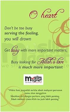Busy with Allah's love