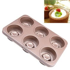 T-TOPER 6 Cup Nonstick Carbon Steel Canele Cake Mold Cupcake Pan, Easy To Clean, Double Sides Avaliable, Heat Resistant Up To 475 Degrees *** New and awesome product awaits you, Read it now  : Muffin and Cupcake Pans