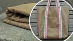 Einfach & groß: Tasche Kudio (Stoff: Heavy Washed Canvas, mind the MAKER) Maker, Diaper Bag, Backpacks, Canvas, Bags, Diy, Bags Sewing, Simple, Tela