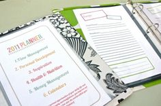 DIY Recipe Books and Day Planners - Tidy Tangle ;)