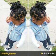 From pony puffs to decked out cornrow designs to braided styles, natural hairstyles for little girls can be the cutest added bonus to their precious little faces. #littlegirlhairstyles #naturalhairstylesforlittlegirls