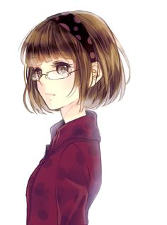 ❤٩(๑•◡-๑)۶❤                                                 Anime - Pretty girl with glasses