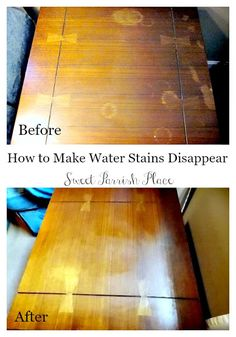 Sweet Parrish Place: Recap: My Most Popular Post Ever- How to Remove Water Stains from Wood