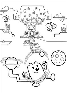 wow wow wubbzy coloring pages # 73