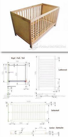 Build Baby Crib - Children's Furniture Plans and Projects   WoodArchivist.com
