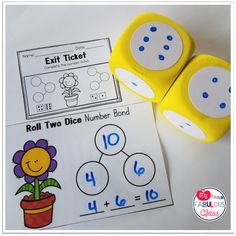 New Spring Math Centers Teaching Numbers, Numbers Kindergarten, Kindergarten Centers, Math Numbers, Math Centers, Number Bonds, Number Recognition, Teacher Binder, Teacher Stuff