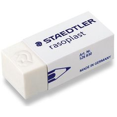 Borracha Para Desenho Staedtler Rasoplast 526 B30 http://www.artcamargo.com.br/borracha-para-desenho-staedtler-rasoplast-526-b30.html