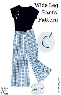 """Wide Leg Pants Pattern – (Pattern has been downloaded & saved to """"sewing"""" )"""