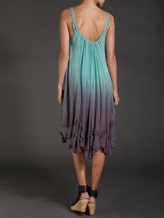 Label Lab Dip Dyed Swing Dress in Blue (jade) | Lyst